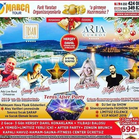 Aria Claros Hotel İzmir Yılbaşı 2019