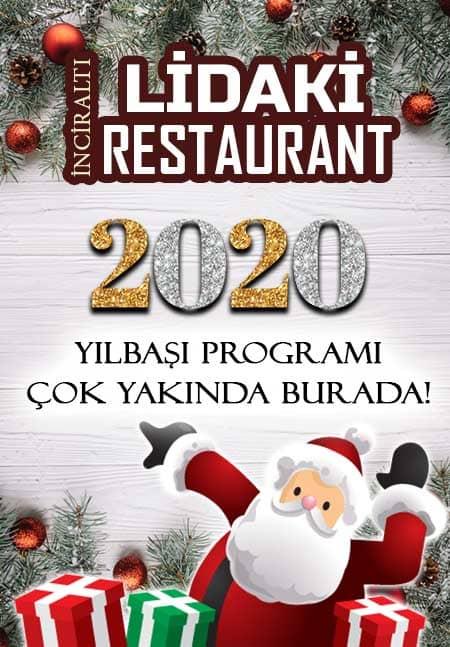 İnciraltı Lidaki Balık Restaurant Yılbaşı 2020