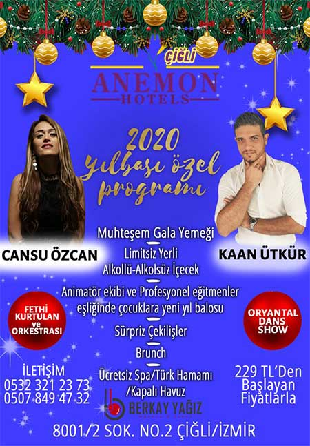 Anemon Çiğli Otel Yılbaşı Programı 2020