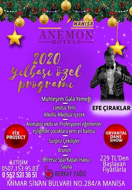 Manisa Anemon Otel Yılbaşı Programı 2020