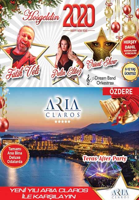 Özdere Aria Claros Hotel Yılbaşı 2020