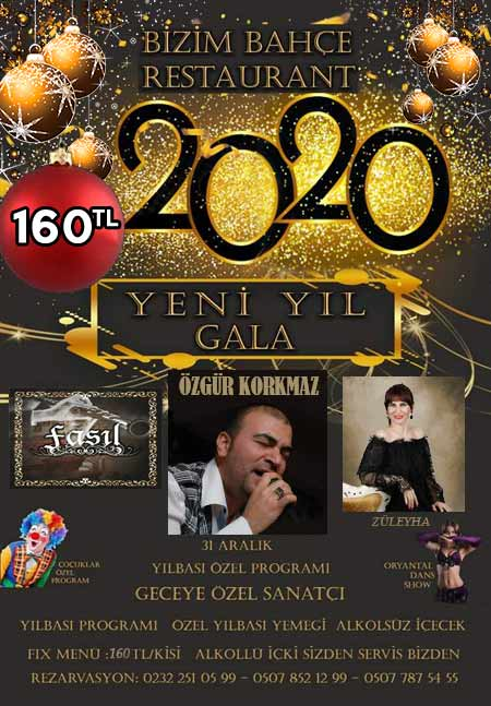 Bizim Bahçe Gaziemir İzmir Yılbaşı 2020
