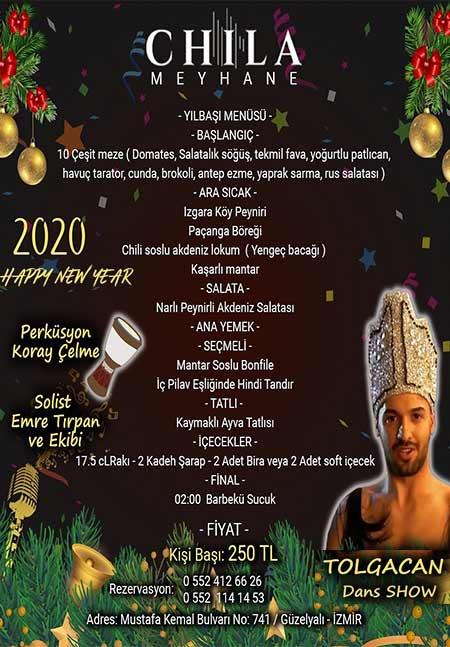 Chila Meyhane İzmir Yılbaşı Programı 2020