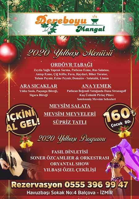 Dereboyu Et Mangal İzmir Yılbaşı 2020