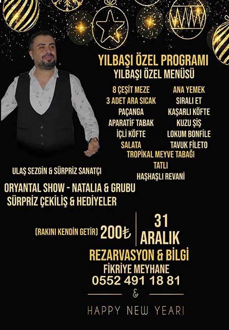 Fikriye Meyhane İzmir Yılbaşı 2020