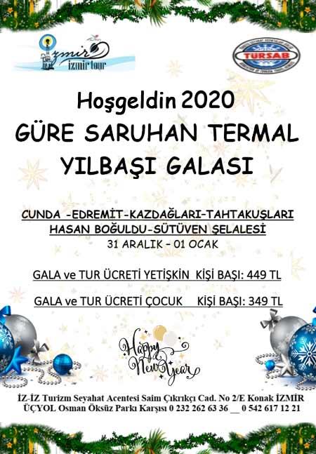 Güre Saruhan Otel Yılbaşı Programı 2020
