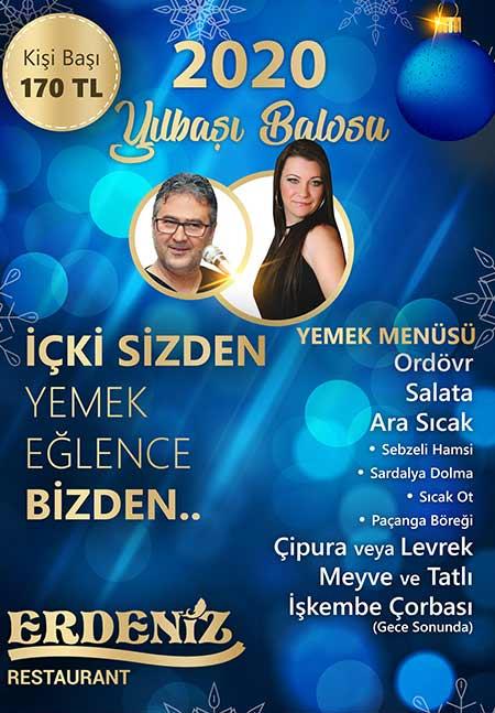 İnciraltı Erdeniz Restaurant Yılbaşı 2020