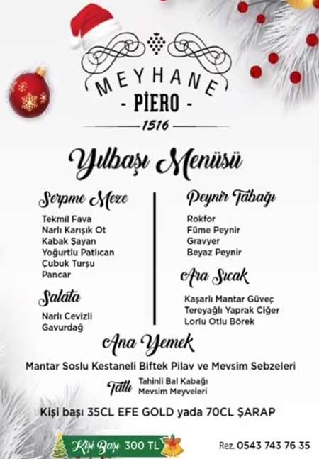 Meyhane Piero İzmir Yılbaşı 2020