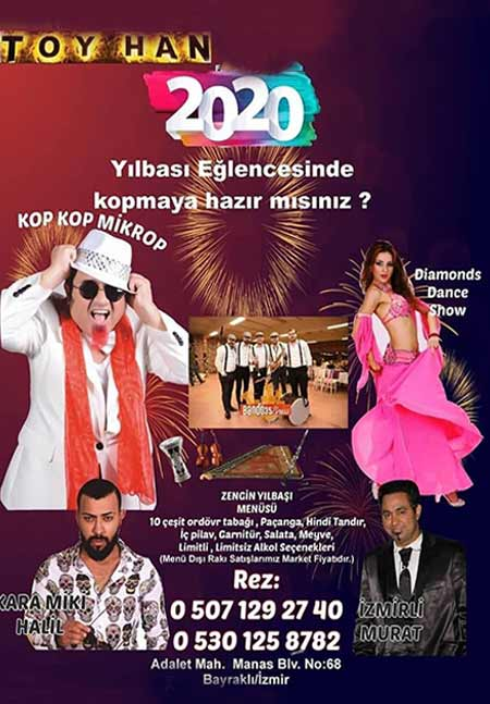 Toy Han Restaurant İzmir Yılbaşı 2020